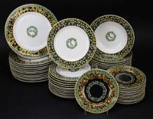 48 piece Versace Gold Ivy ROSENTHAL Porcelain China Set