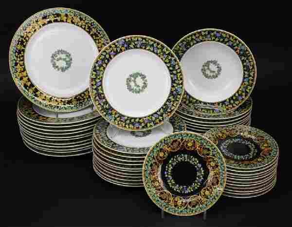 48 piece Versace Gold Ivy ROSENTHAL Porcelain China Set