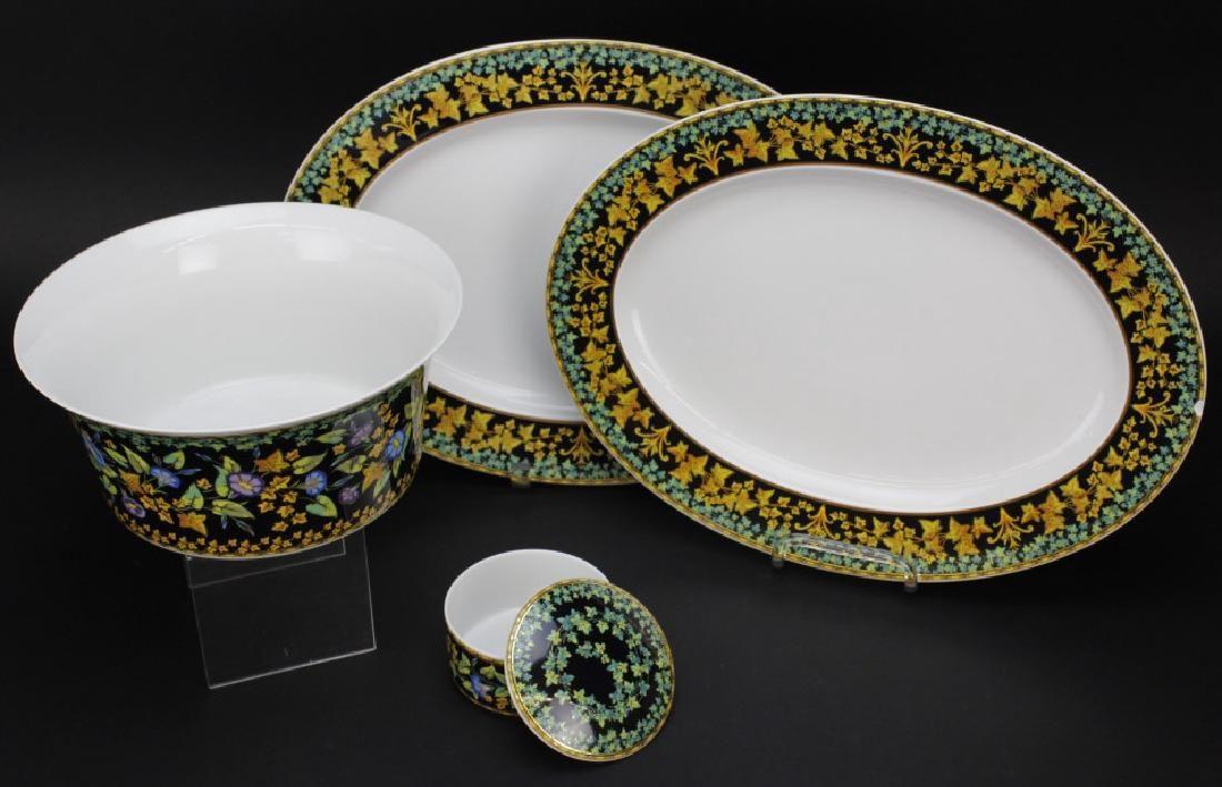 4pc Versace Gold Ivy ROSENTHAL Porcelain China Serving