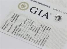 GIA 2.03 CT VVS1 E Color Round Brilliant Cut Diamond