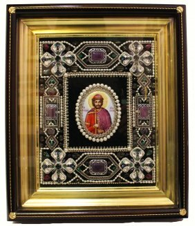 Russian Icon 'st. Boris'
