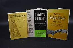 ÂTHREE REFERENCE BOOKS ON RIFLES: