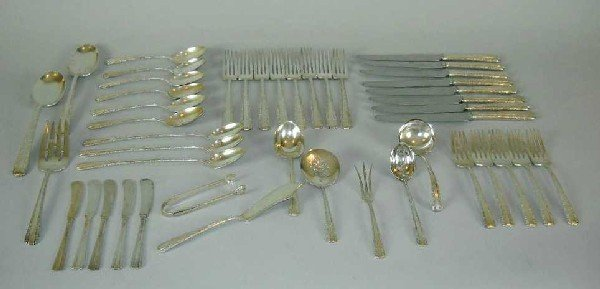 5: THIRTY SIX PIECE TOWLE STERLING FLATWARE SET: