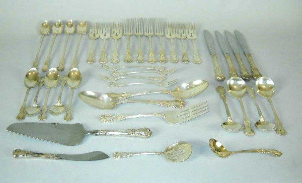 14: THIRTY EIGHT PIECE TOWLE STERLING FLATWARE: