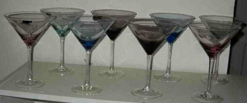 EIGHT MARQUIS WATERFORD MARTINI GLASSES: