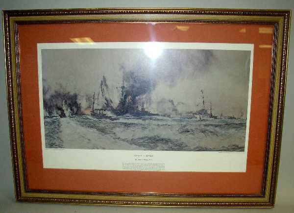 29: WINDY CORNER FRAMED PRINT:  C.1917, Signed Chales D