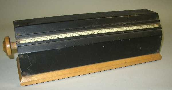 30: TABLE TOP TAX CALCULATOR:  C.1920, With Wooden Base