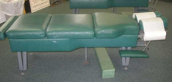18: A.V.IND CHIROPRACTIC TABLES: Green Vinyl.