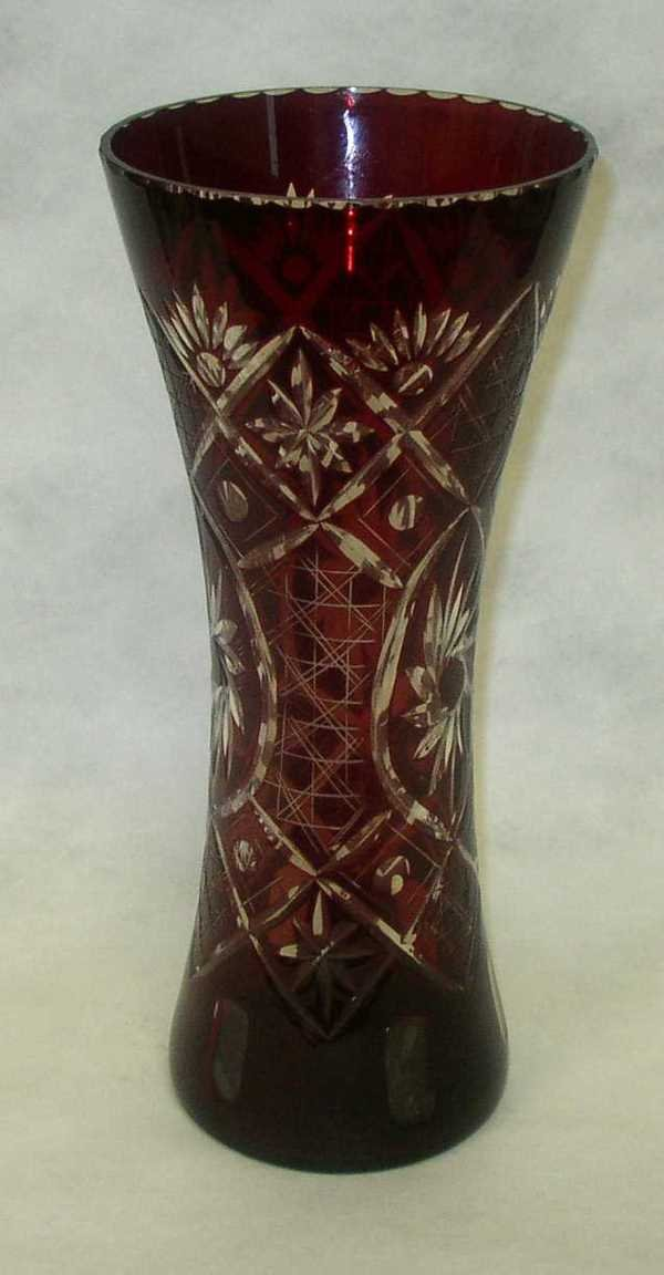 18: BOHEMIAN CUT GLASS VASE