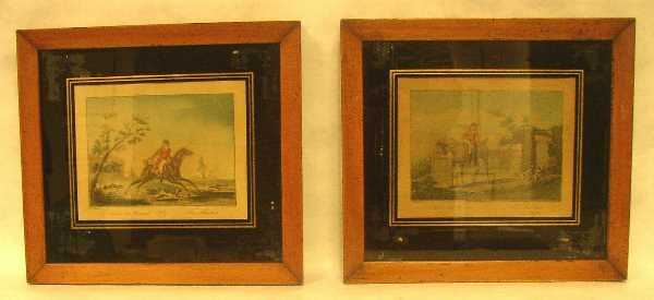 22: TWO EARLY FRAMED FRENCH PRINTS