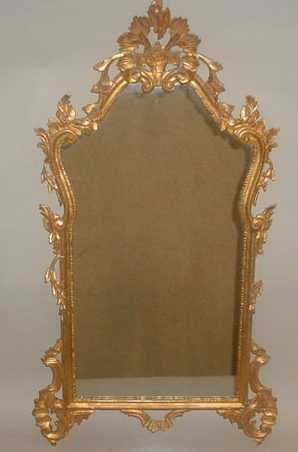 180: GILDED FLORENTINE STYLE LOOKING GLASS