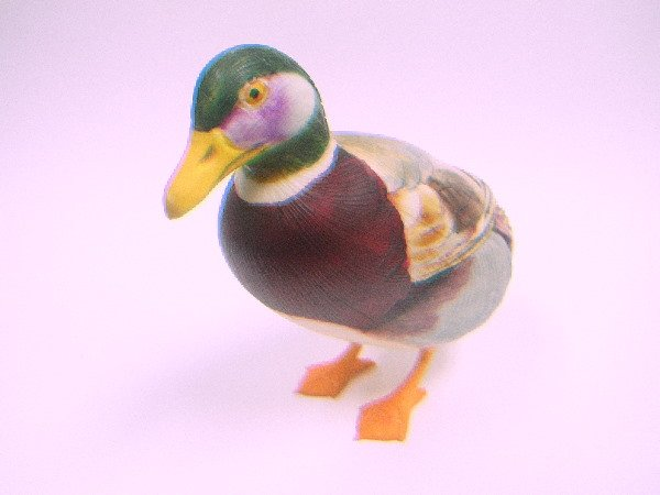 5: IVORY HAND PAINTED DUCK:  From Japan, Multicolor, 3""
