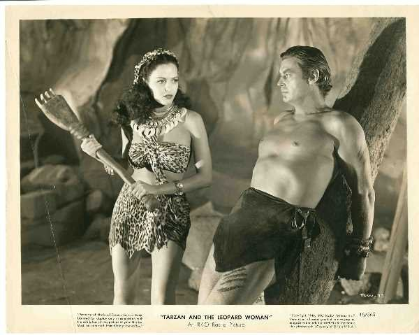 14: BLACK AND WHITE MOVIE STILL/ JOHNNY WEISSMULLER: C.