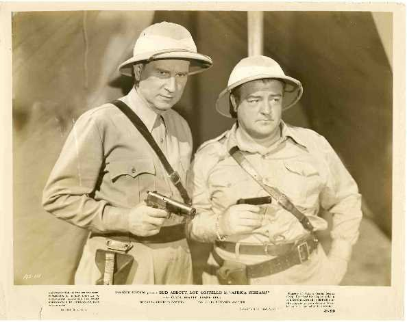 19: BLACK AND WHITE MOVIE STILL/ ABBOTT & COSTELLO: C.1