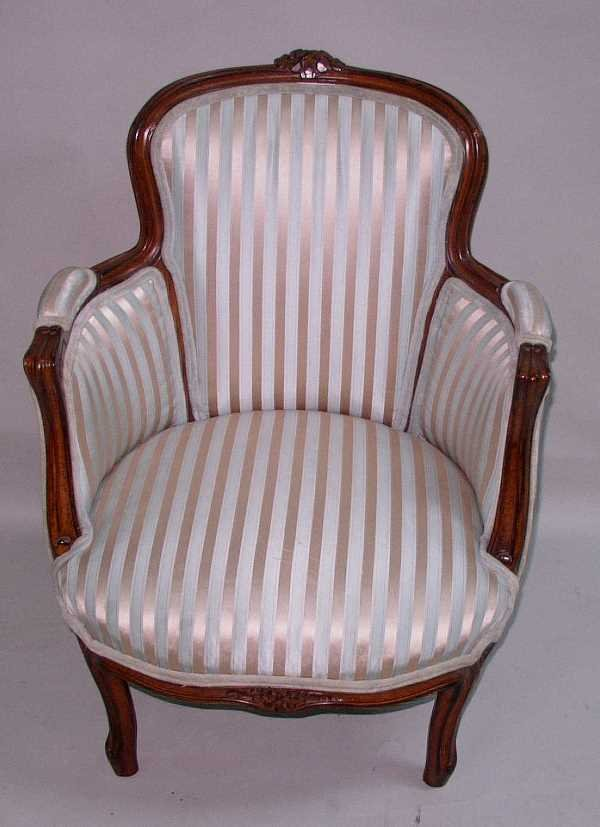 185: FRENCH PROVENCIAL LADIES CHAIR: C.1890, Hand Carve