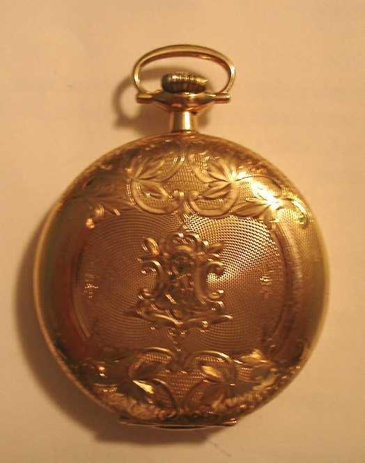 415: 14 KARAT GOLD WALTHAM HUNTER POCKET WATCH: C.1902E