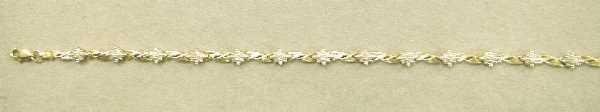 420: GOLD & DIAMOND BRACELET: Featuring Thirteen FiveDi