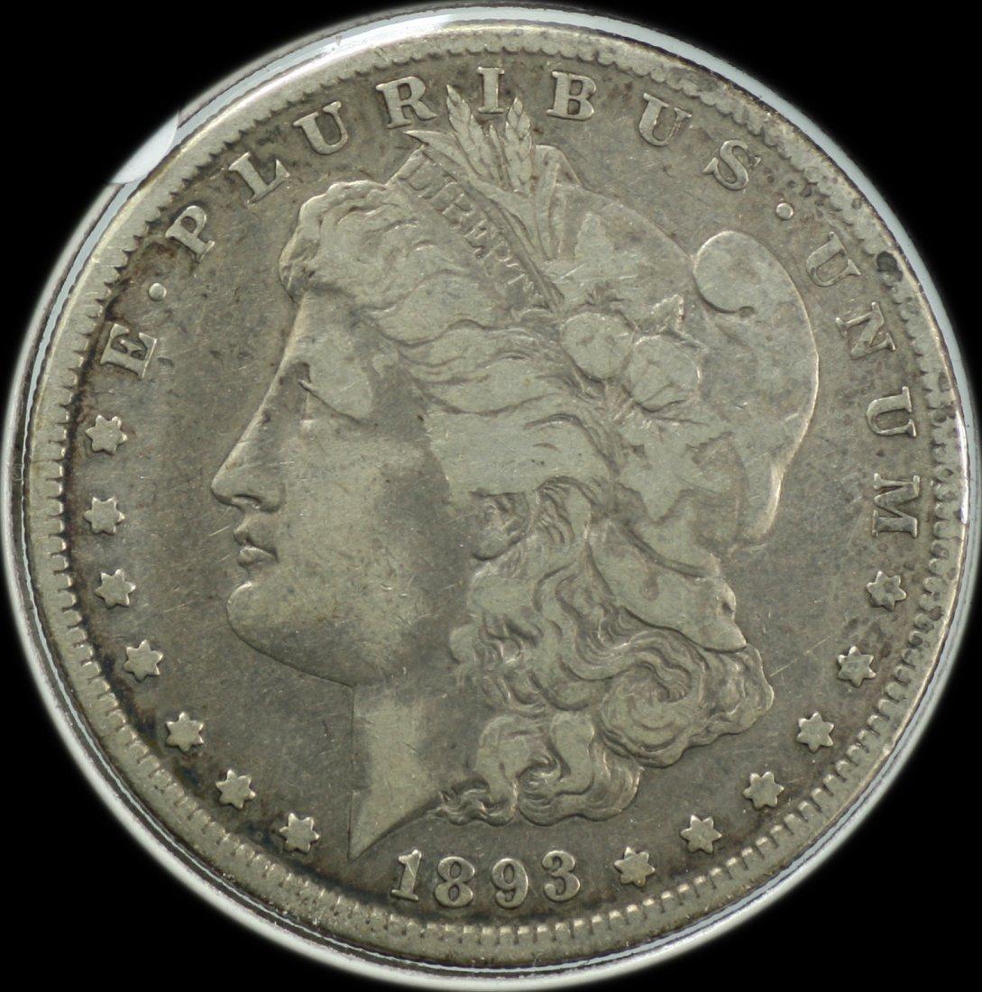 1893 Morgan Silver Dollar S
