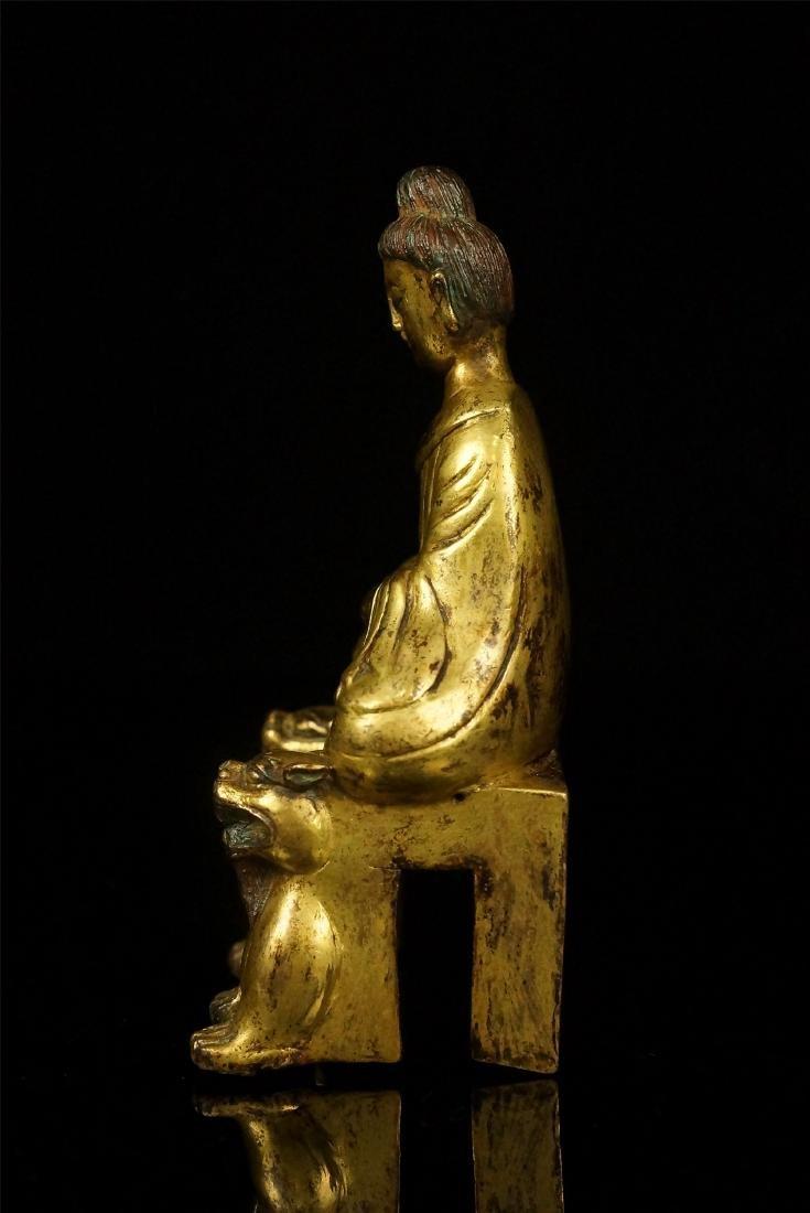 A GILT- BRONZE FIGURE OF BODHISATTVA, TANG DYNASTY - 6