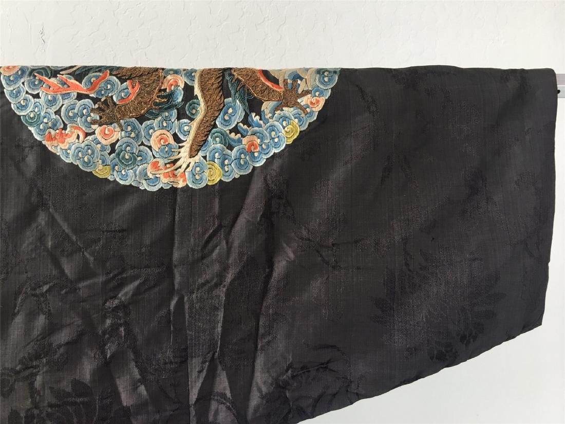 A CHINESE SILK EMBROIDERED FUR-LINED WINTER COAT - 10