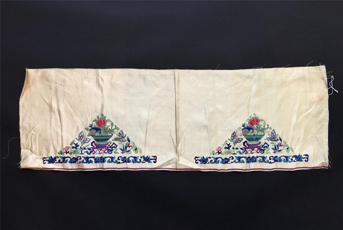 A PIECE OF CHINESE SILK EMBROIDERED FABRIC