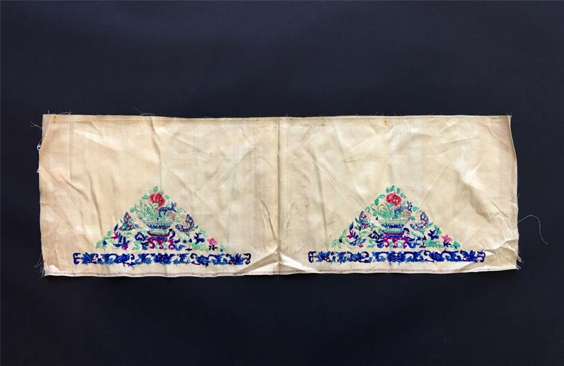 A PIECE OF CHINESE SILK EMBROIDERED FABRIC - 2