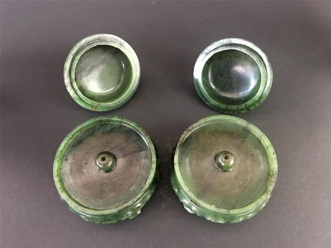 A PAIR OF CHINESE JADE INCENSE HOLDERS - 10