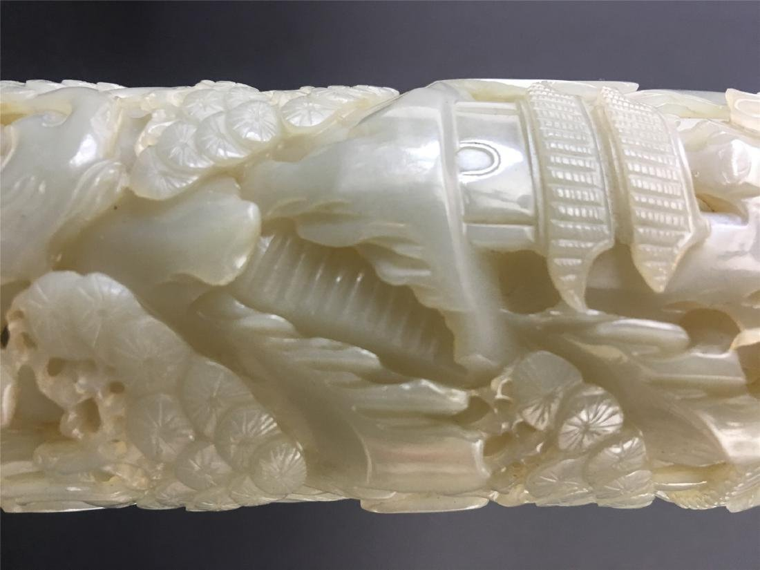 A PAIR OF CHINESE JADE INCENSE HOLDERS - 7
