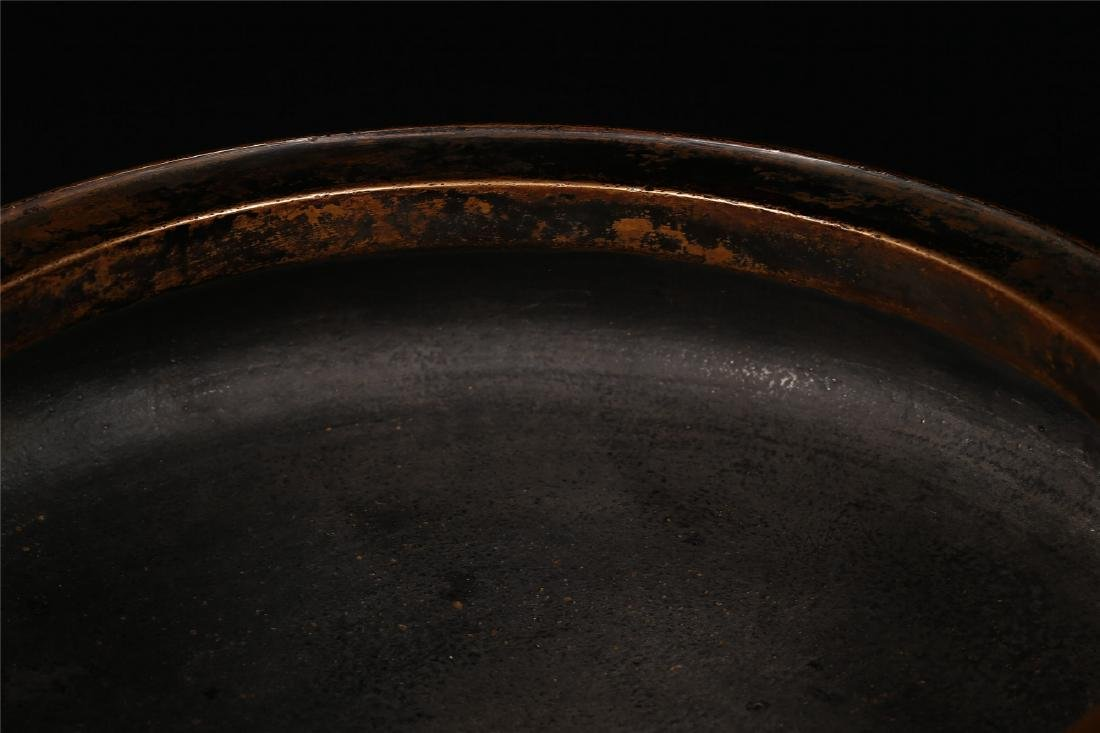A CHINESE BRONZE TRIPOD CENSER - 3