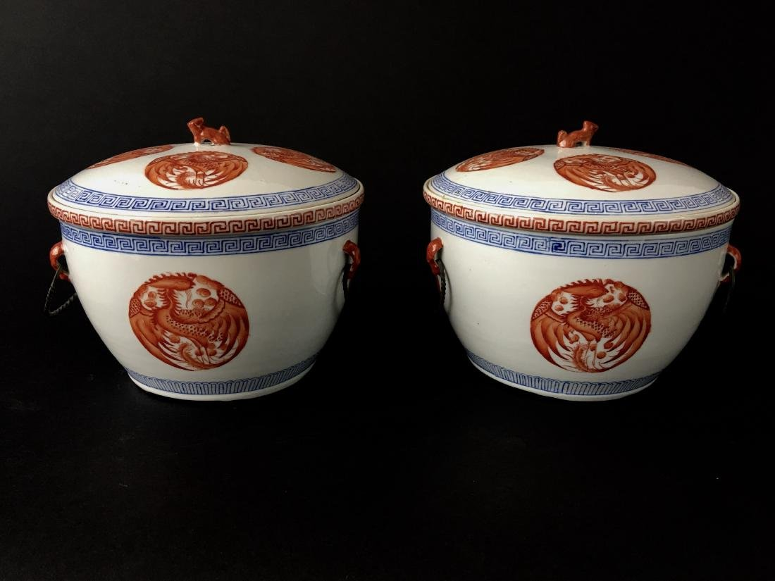 TWO SETS OF CHINESE PORCELAIN WARES