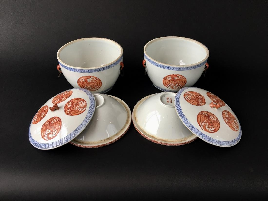 TWO SETS OF CHINESE PORCELAIN WARES - 2