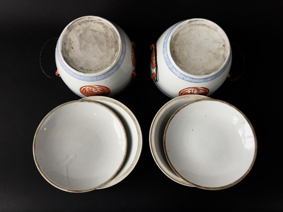 TWO SETS OF CHINESE PORCELAIN WARES - 4