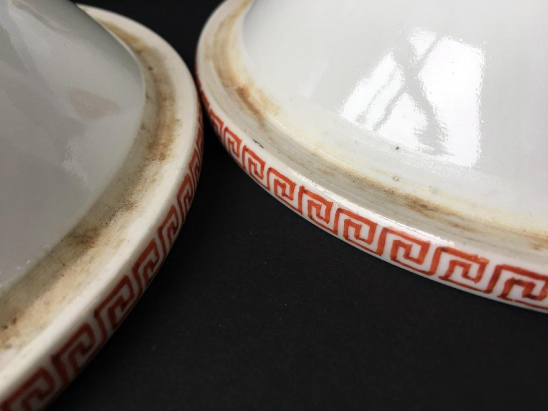 TWO SETS OF CHINESE PORCELAIN WARES - 6