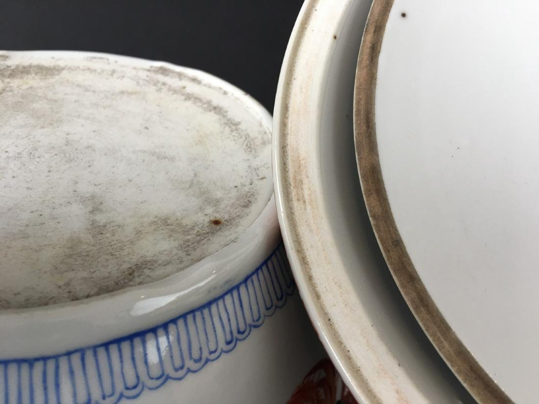 TWO SETS OF CHINESE PORCELAIN WARES - 9
