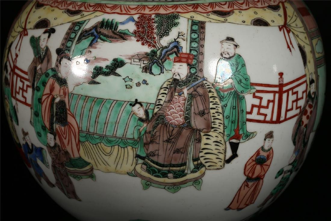 A CHINESE POLYCHROME PORCELAIN DOUBLE GOURD VASE - 4