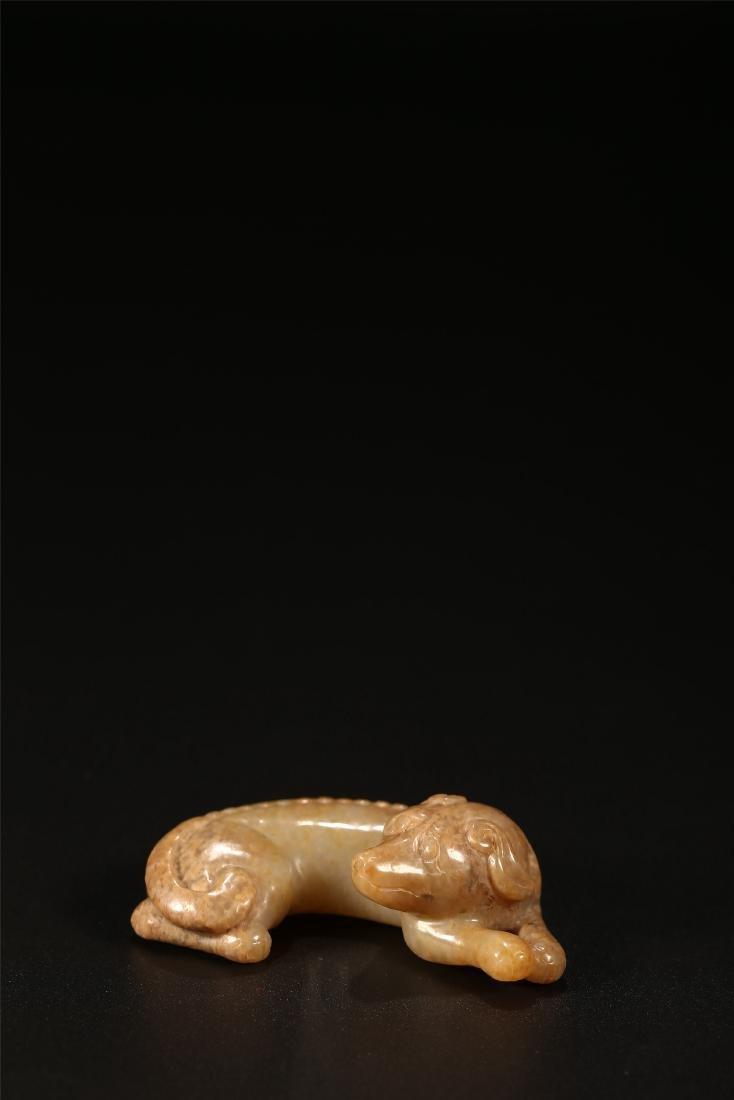 A CHINESE JADE DOG