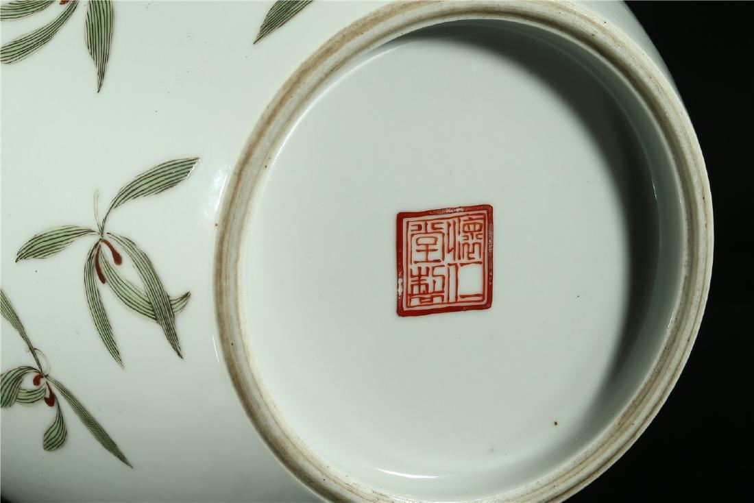 A CHINESE FAMILLE ROSE PORCELAIN VASE - 6