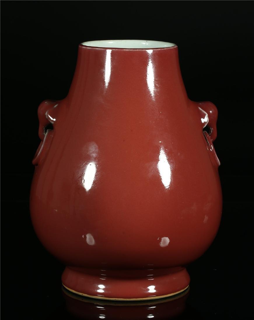 A CHINESE SANG DE BOEUF PORCELAIN JAR