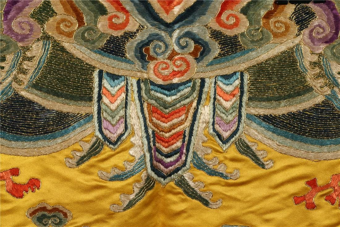 A CHINESE SILK EMBROIDERED CUSHION COVER - 9