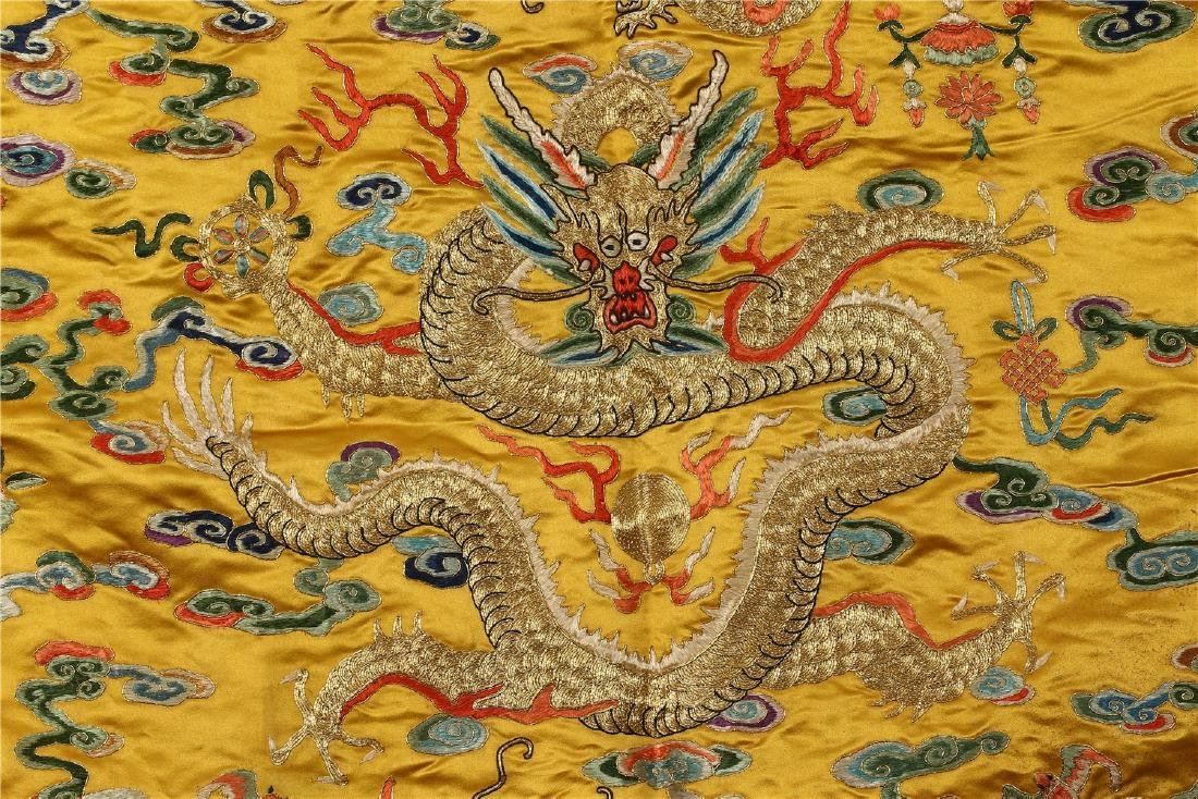 A CHINESE SILK EMBROIDERED CUSHION COVER - 2