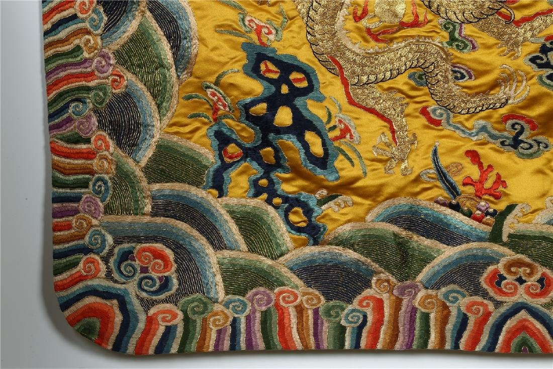 A CHINESE SILK EMBROIDERED CUSHION COVER - 3