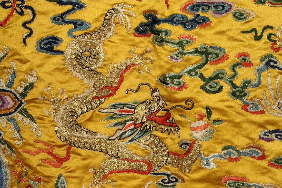 A CHINESE SILK EMBROIDERED CUSHION COVER - 4