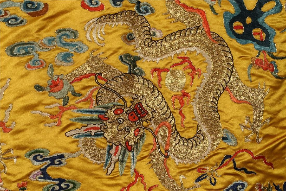 A CHINESE SILK EMBROIDERED CUSHION COVER - 5