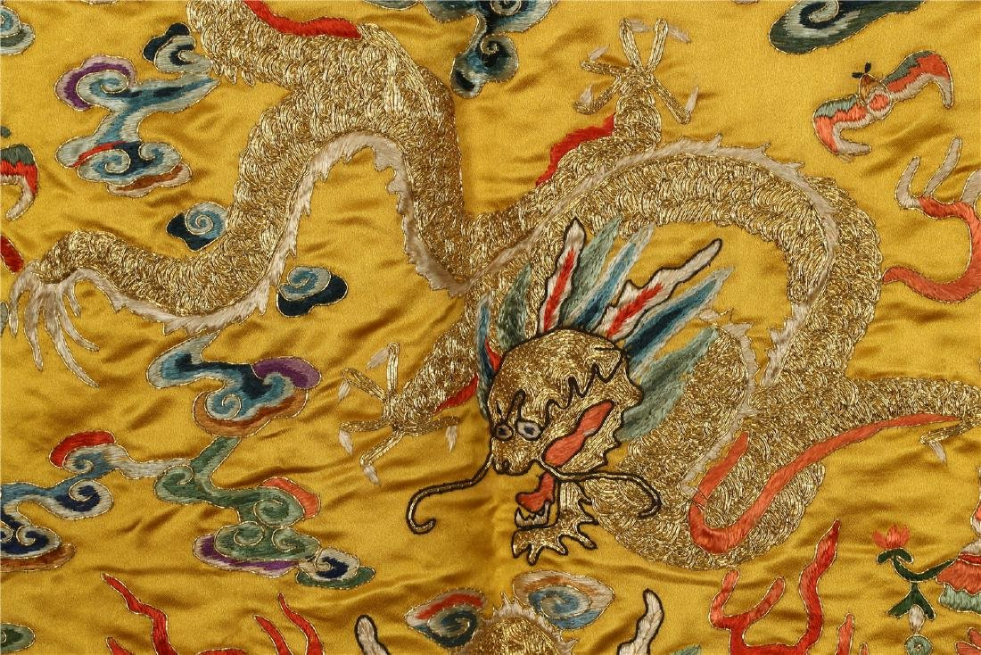 A CHINESE SILK EMBROIDERED CUSHION COVER - 6