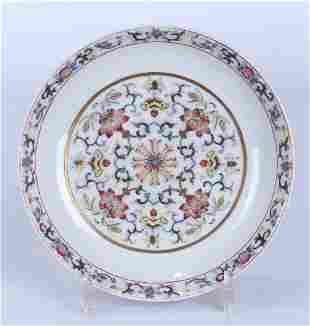 A CHINESE FAMILLE ROSE PORCELAIN FLOWER DISH