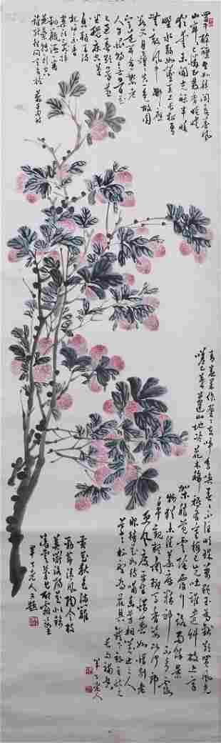 CHINESE PAINTING ATTRIBUTED TO CHEN BANDING FLOWERS