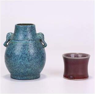 TWO CHINESE PORCELAIN ORNAMENTS