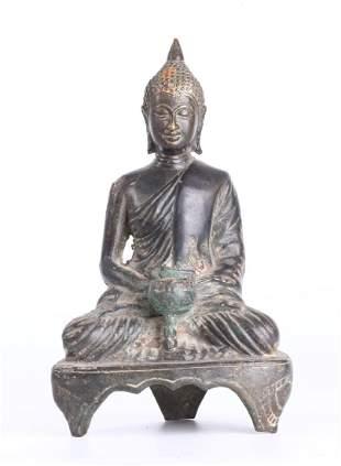 SOUTHEAST ASIAN BRONZE FIGURE OF BUDDHA