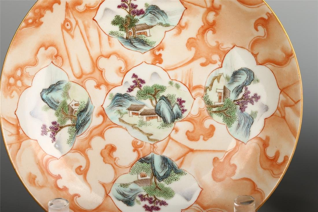 PAIR OF CHINESE FAMILLE ROSE PORCELAIN DISHES - 3