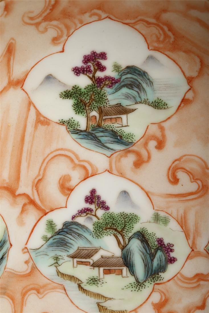 PAIR OF CHINESE FAMILLE ROSE PORCELAIN DISHES - 4